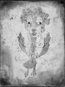 Angelus Novus de Paul Klee (source : wikimedia)